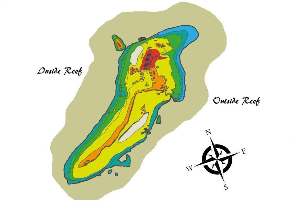 Aliwal Shoal Reef Map