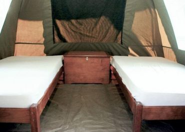 Coral Divers resort safari tent interior